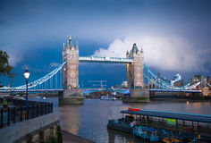 Tower bridge on the river Thames. Night view Royalty Free Stock Image
