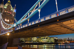Tower bridge on the river Thames. Night view Stock Image