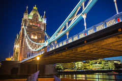 Tower bridge on the river Thames. Night view Stock Photo