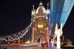 Tower bridge on the river Thames. Night view Royalty Free Stock Photography
