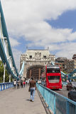 Tower Bridge on the River Thames and red double-decker bus, London, United Kingdom Royalty Free Stock Photo