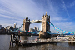 Tower Bridge and river Thames on Sunny Day ,London United Kingdom Royalty Free Stock Images