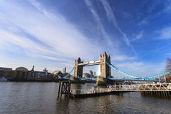 Tower Bridge and river Thames on Sunny Day ,London United Kingdom Royalty Free Stock Photo
