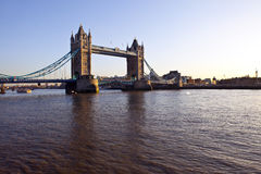 Tower Bridge and The River Thames at Sunset Royalty Free Stock Photos