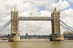 Tower Bridge from the River Thams Royalty Free Stock Photos