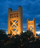 Tower Bridge in Sacramento Stock Photography