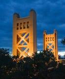 Tower Bridge in Sacramento stock photography