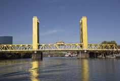 Tower Bridge in Sacramento, CA. Stock Photos