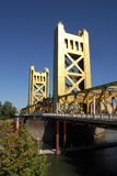 Tower Bridge in Sacramento,California Royalty Free Stock Photography