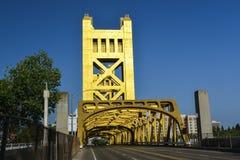 Tower Bridge, Sacramento, California. The Tower Bridge (1935) is a vertical lift bridge that crosses the Sacramento River in Sacramento, California stock images