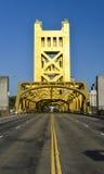 Tower Bridge, Sacramento, California. The Tower Bridge (1935) is a vertical lift bridge that crosses the Sacramento River in Sacramento, California royalty free stock photo