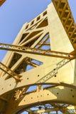 Tower Bridge, Sacramento, California. The Tower Bridge (1935) is a vertical lift bridge that crosses the Sacramento River in Sacramento, California stock photo