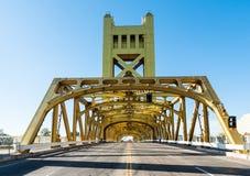 Tower Bridge in Sacramento Stock Images