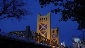 Tower Bridge in Sacramento stock footage