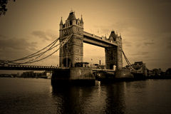Tower bridge sepia Stock Images