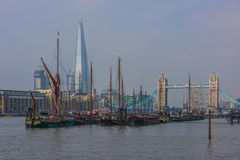 Tower Bridge and The Shard in London Stock Photography