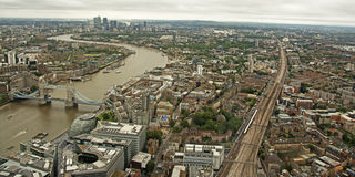 Tower Bridge from the Shard Royalty Free Stock Images