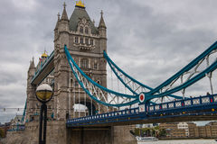 Tower Bridge. A shot of Tower Bridge London under grey skies stock images