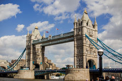 Tower Bridge from side view Stock Photos