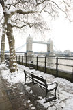 Tower Bridge on a snowy day Stock Photography