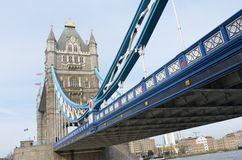 Tower Bridge from South Bank Royalty Free Stock Image