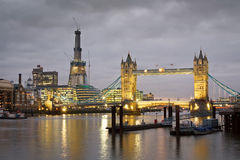 Tower Bridge and Southbank, London. Royalty Free Stock Photo