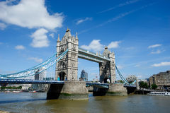 Tower Bridge in summer, London, England Stock Photo