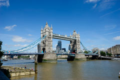 Tower Bridge in summer, London, England Royalty Free Stock Photography