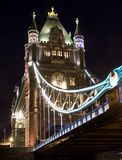 Tower Bridge. Summer night view on Tower bridge Stock Photos