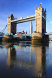 Tower Bridge on Sunny Day Stock Photos