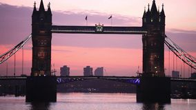 Tower Bridge on Sunny Day ,London United Kingdom stock video