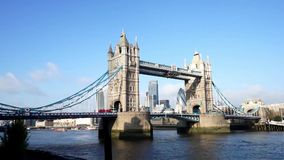 Tower Bridge in a sunny day, weather variety stock video footage