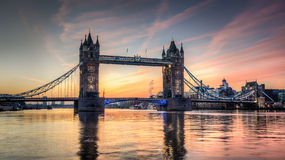 Tower bridge at sunrise. HDR Stock Image