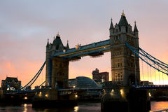 Tower Bridge at sunset Royalty Free Stock Image