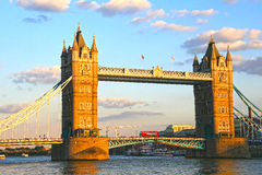 Tower Bridge in sunset Royalty Free Stock Photo