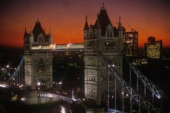 Tower Bridge at sunset, London, England Royalty Free Stock Photography