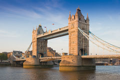 Tower Bridge on a sunset, London, UK Royalty Free Stock Image