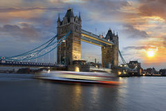 Tower Bridge at sunset, London, UK Royalty Free Stock Photos