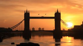 Tower Bridge During Sunsirse ,London United Kingdom stock video
