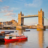Tower Bridge and Thames Stock Photos