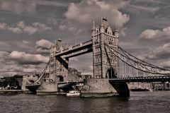 Tower Bridge and the thames River royalty free stock photography