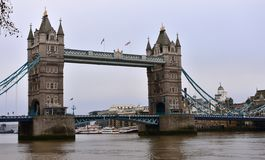 Tower Bridge and Thames river. London, United Kingdom. royalty free stock photos