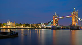 Tower Bridge and Tower of London Stock Photography
