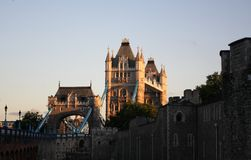 Tower Bridge and Tower of London, United Kingdom stock image