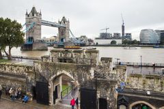 Tower Bridge from Tower of London Stock Photos