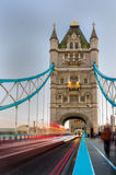 Tower Bridge Traffic Stock Photography
