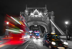 Tower Bridge and Traffic Color Mix Stock Photos
