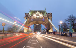 Tower Bridge and Traffic Stock Photos