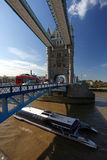 Tower Bridge with traffic  ,London Stock Photography