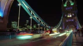 Tower Bridge Traffic Timelapse Wide stock video